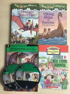 兒童英文故事書(4本+2CD)