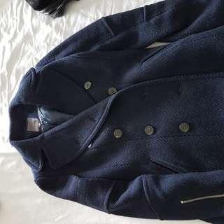 Wool blend navy coat