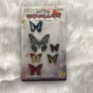 3D Holographic Butterfly Stickers