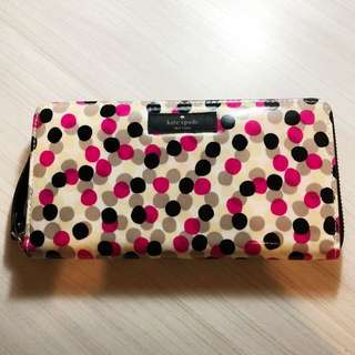 Kate Spade Neda Daycation Polka Dot Zip Around Wallet
