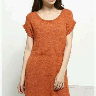 💎韓國針織顯瘦細腰身洋裝