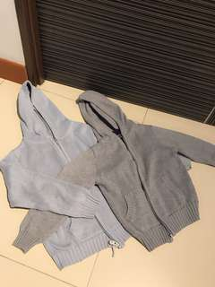Chateau De Stable Boys Knit Hood Cardigans 2Pcs Set Sale $35