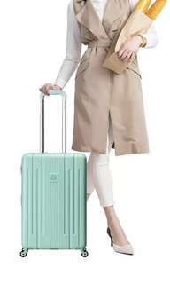 """Delsey Cabin Size Hard Case Luggage - Mint Green (21"""")"""