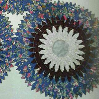 Blue series  BATIK handstitched Homemade Rug, Coasters, Table Place c