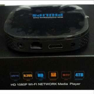 Brand New Philips HD 1080P Wi-Fi Network Media Player