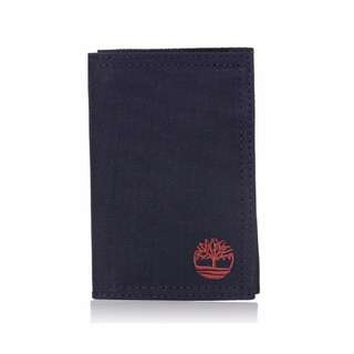 Timberland Men's Nylon Trifold Wallet Navy In Gift Box