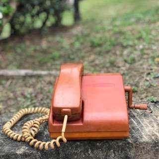 「早期手搖電話 」  早期 古董 復古 懷舊 稀少 有緣 大同寶寶 黑松 沙士 鐵件 40年 50年