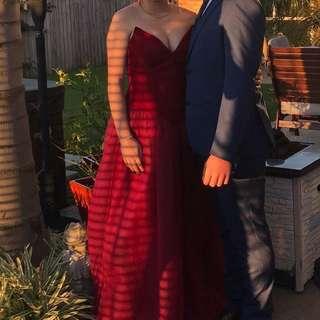 Red, Velvet Ball Dress