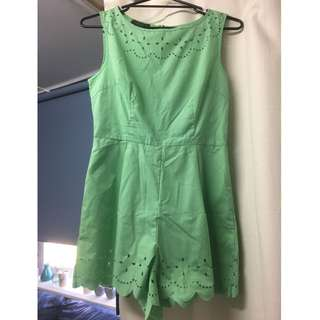 Mint Green Playsuit size 12