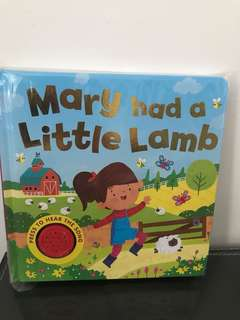 Mary had a little lamb sound book