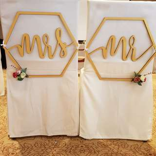 [SELLING] Wedding seat. MRS and MR