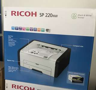全新 Ricoh SP220Nw Wifi 鐳射Printer