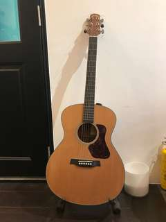 Acoustic guitar(walden) with guitar stand