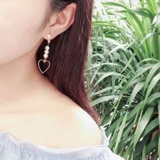 Pearls & Hearts Clip On Earrings