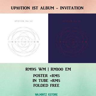 PRE-ORDER UP10TION 1ST ALBUM - INVITATION