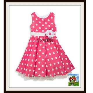 Rare Editions Pink Polka Dots Girl's Dress