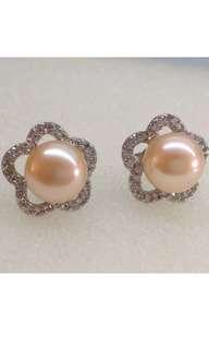 BN Genuine Pink 9mm FW Pearl Stud Earring