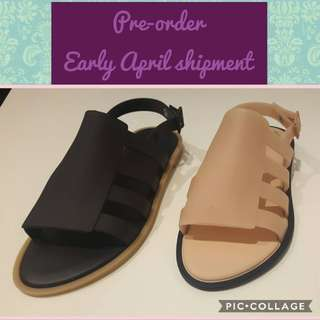 Pre-order Melissa Boemia black and nude/pink colours