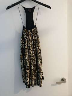 Maurie & Eve black and gold sequin dress size 1