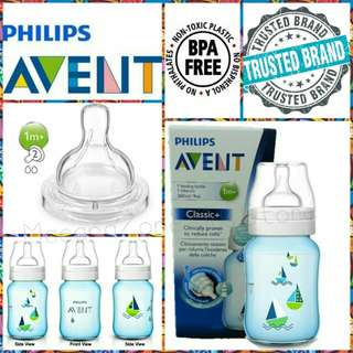 (Single Box) Philips Avent Classic+ Bottle Blue Sailboat Decorated 9oz/260ml