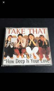 "Cd Box 1 - Take That Cd2 ""How Deep Is Your Love"""