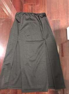 Black Thigh Split Skirt