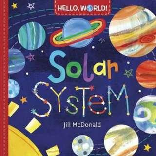 ☺ [ Brand New ]  Hello, World! Solar System (Hello World!)      By:Jill Mcdonald  (Board Book)