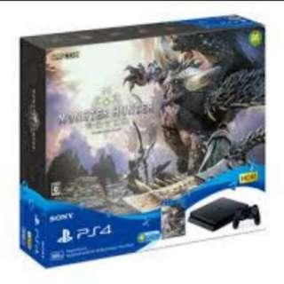 PS4 Slim With Monster Hunter World