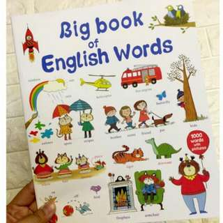 BIG CHILDRENS BOOK OF ENGLISH WORDS