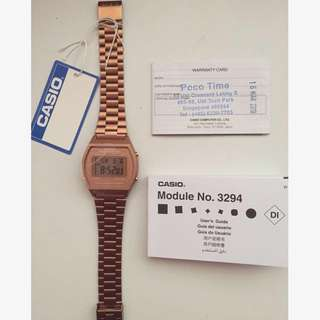 (BNWT) Casio rose gold watch