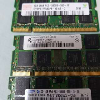 DDR2 RAM 1GB for laptop