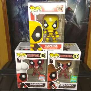 (ON HAND) Deadpool Exclusives Marvel Funko Pop Bundle