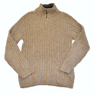 GIANNI VALENTINO Brown Knitted Sweater Jacket Coat