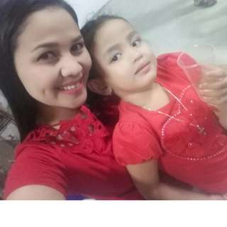 Mother & Daughter Red Blouse