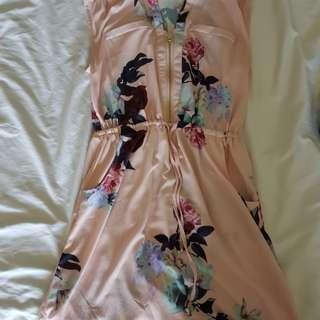 Floral pink dress