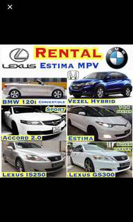 New Honda Vezel Hybrid Sensing 2017 ✨Estima MPV($69) ✨Honda Accord($59) ✨Lexus IS250($62) ✨BMW 120i Convertible Cabriolet ($76) ✨Car Rental Leasing Uber Grab Wedding ( Rent Volvo Toyota Mercedes Airport Taxi Cab Transfer)