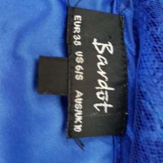 Lace electric blue dress