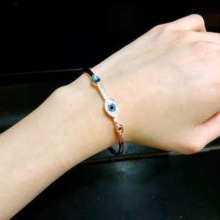Swarovski施華洛世奇水晶 DUO EVIL EYE 手鐲, 藍色, 混搭多種鍍層 (原價HK$ 990)