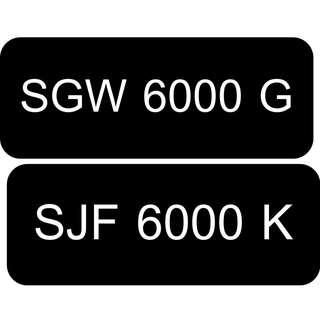 Car Number Plate for Sale: two sets of 6000