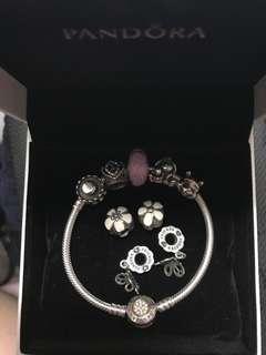 Pandora 純銀 迪士尼 小熊維尼 蝴蝶 串飾 手鏈 手鍊 手鈪 bracelet bangle charm links