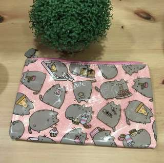 Pusheen pouch/clutch (with pink glittery background) RESTOCK