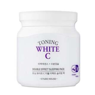 ETUDE HOUSE toning white C double effect sleeping mask