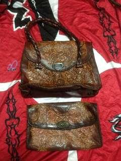 Vintage handbag + clutch bag handmade style