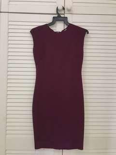 Maroon Scuba Dress