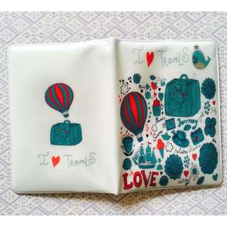 BN Passport Holder Cute Heart Travel