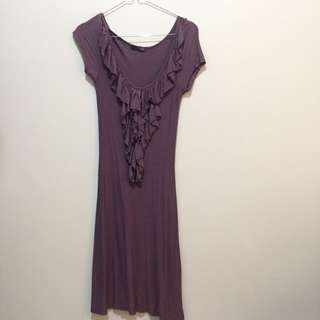 Purple ruffle dress a/txchange by arthalia