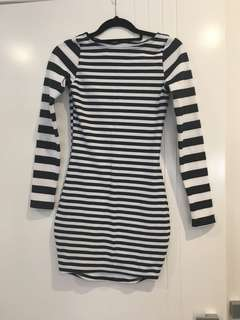 BLACK MILK STRIPE DRESS