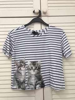 Cotton Cat Crop Top