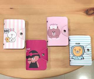 LINE Friends & Ryan Korean Bear card holders (LIMITED PIECES ONLY!)