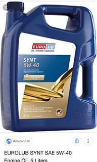 Eurolub 5w40 engine oil